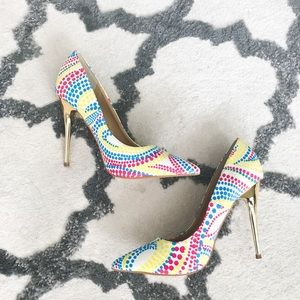 Multicolored Pumps